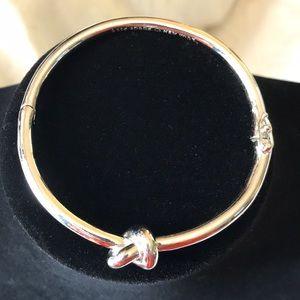 Kate Spade Sailor Knot Silver Bangle Bracelet